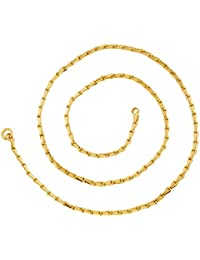 The Jewelbox 3D Traditional 22K Gold Plated 23.5 IN Chain For Unisex