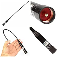 Boblov Nagoya NL-R2 extensible de alta ganancia de doble banda de 144/430 MHz UHF / VHF Antena móvil Para BAOFENG Kenwood PUXING walkie talkie