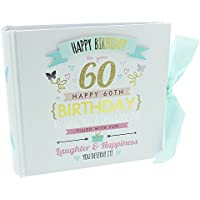 60th Birthday Ladies Pink and Gold Signography Birthday Photo Album Lovely Gift Idea