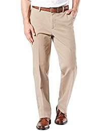Dockers Men's Classic Fit Workday Khaki Smart 360 Flex Pants D3, Black/Stretch, 30W x 30L