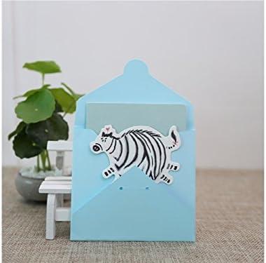 BaBaSM Portable Carte-cadeau de carte d'invitation de carte de voeux d'animal de 1 PC avec l'enveloppe (zèbre) | Elaborer