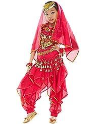 3ccebb606 BELLYQUEEN Robe Danse Ventre Fille Costume Classique Danse Oriental Belly  Dance 7 Pcs Top+Sarouel