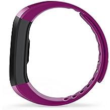 Hmhope Deportes PodóMetro Inteligente Pulsera Bluetooth Fitness Tracker Ritmo CardíAco Monitoreo Usable Impermeable Apuntan Caballo USB Carga Para Android IOS , Purple