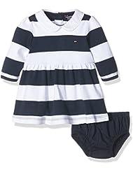 Tommy Hilfiger Baby-Mädchen Kleid Rugby Stripe Dress L/s