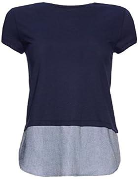 FIND Camiseta con Panel en Contraste para Mujer