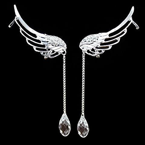 Wrone (TM) Il nuovo modo punk gotico del metallo di tentazione del drago del morso dell'orecchio dell'involucro del polsino orecchino di 3