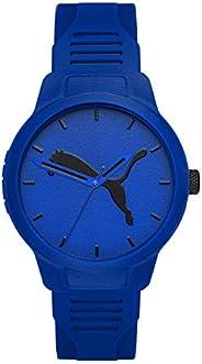 ساعة بوما ريسيت الاصدار 2 للرجال بمينا ازرق وسوار من جلد البولي يوريثين وعرض انالوج - P5014