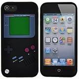 """étui en Silicone """"GAME BOY"""" Housse Coque pour Apple ipod touch5 noir Vif"""