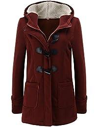 ❤️ Tefamore Mujer Invierno Abrigo Casual Sudadera con Capucha Slim Chaqueta de Lana Sintética Capa Jacket Parka Pullover