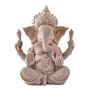 Hue arenaria Ganesha Buddha Elefante Statua Scultura Handmade Figurine