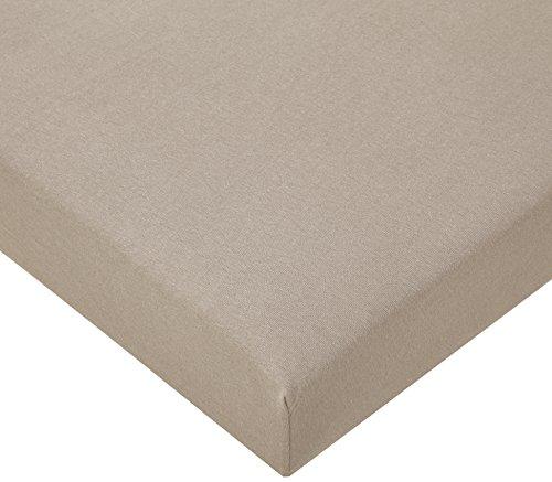 Lote de 3sábanas bajeras de algodón ecológico,60x 120cm, color marrón avellana