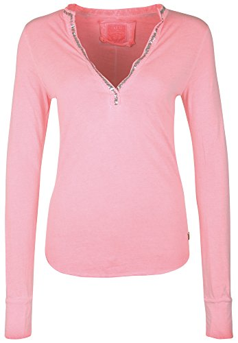 BETTER RICH Damen Longsleeve POLO STANDUP PAILLETTE