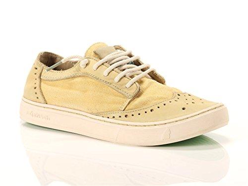 Satorisan, Donna, Yukai Napa Linen Flaxen, Pelle/Canvas, Sneakers, Giallo, 40 EU