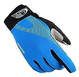 LOUMVE Fingerlose Fahrradhandschuhe Half Finger Fahrradhandschuhe Mountainbike Sporthandschuhe Fitness für Herren Damen Full Finger-Blau L