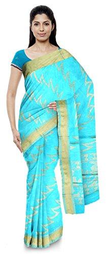 Neelam Sarees Women's Pure Banarasi Silk Saree (Blue)