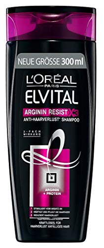 L\'Oréal Paris Elvital Shampoo Arginin Resist, 3er Pack (3 x 300 ml)
