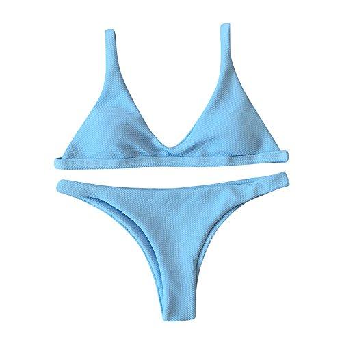 Kinlene Mujeres Push-up Sujetador Acolchado Vendaje Bikini Conjunto Traje de baño Traje de baño Baño
