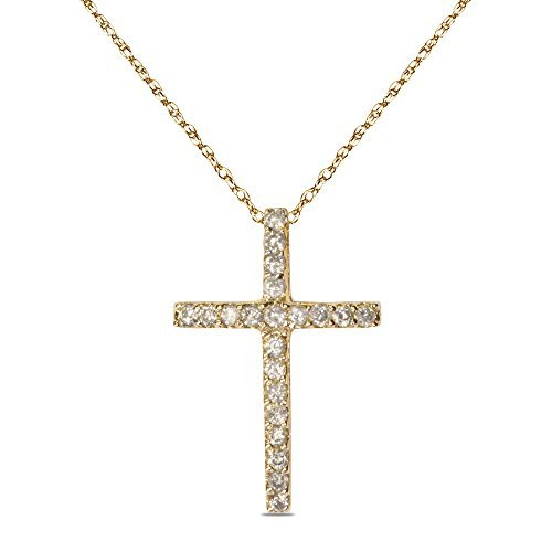 1-4ct-diamond-cross-pendant-in-10k-yellow-gold-by-nissoni-jewelry
