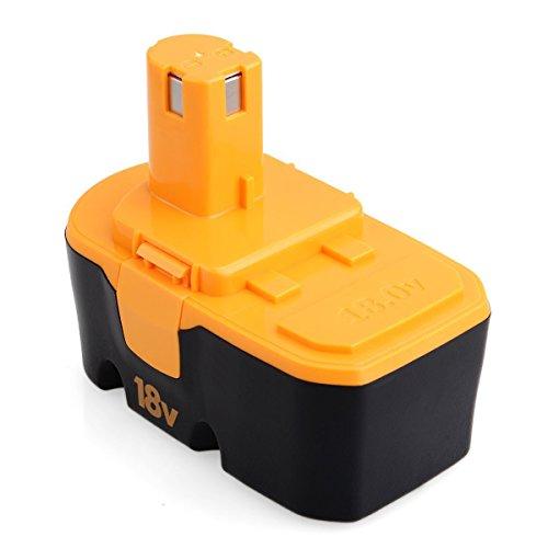 FLAGPOWER 18V 3000mAh Replacement Power Tool Battery for Ryobi ONE+ P100 ABP1801 ABP1803 BCP1817/2SM BPP-1813 BPP-1815 BPP-1817 BPP-1817/2 BPP-1817M BPP-1820 (1 Pack)
