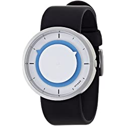 Hygge 3012 Unisex Quartz Watch with Blue Dial Analogue Display and Black PU Strap MSP3012C(BL)