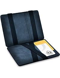 Vegas Magic Wallet - Certificado RFID, protección NFC - Billetera mágica y Fina con Compartimento para Monedas - Regalo para Hombres y Mujeres con Caja de Regalo