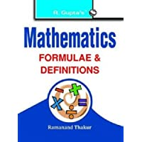 Mathematics Formulae & Definitions (RPH Pocket-Book Series) (RPH Pocket-Book/Handbook Series)