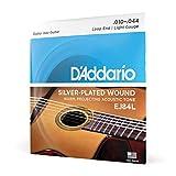 D'Addario Cordes pour guitare acoustique jazz manouche D'Addario EJ84L, extrémité à boucle, Light, 10-44