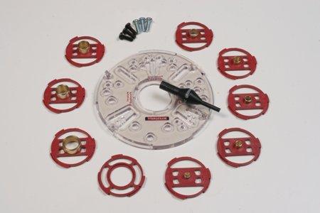 Grundplatte für Oberfräse und Set Kopierringe