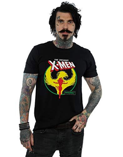 Marvel Hombre X-Men Phoenix Circle Camiseta Negro Medium