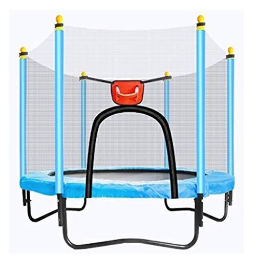 YGUOZ Trampolin für Kinder, Indoor Outdoor Jumper Trampolin, Trampolin Set mit Sicherheitsnetz, Sprungmatte, Hochfeste Federn und U-förmigem Stahlrahmen,Blue_59in