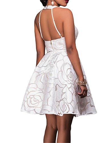 Cfanny - Robe - Cocktail - Femme Blanc