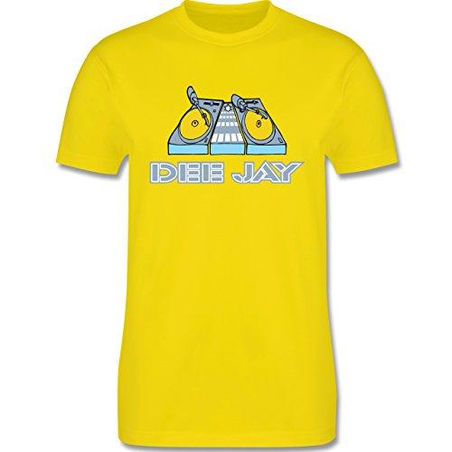 DJ - Discjockey - Discjockey - Herren Premium T-Shirt Lemon Gelb