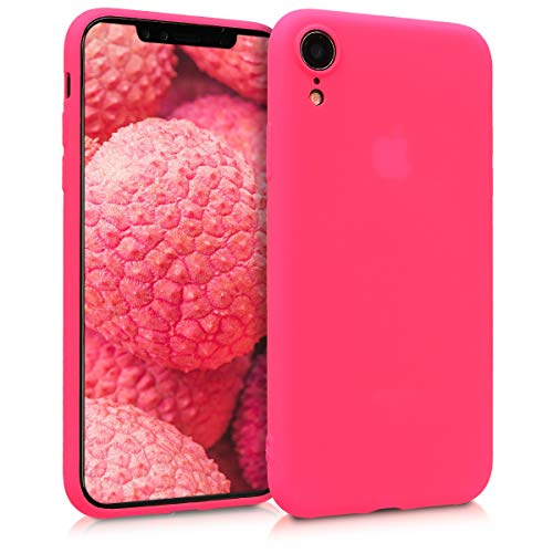 kwmobile Apple iPhone XR Hülle - Handyhülle für Apple iPhone XR - Handy Case in Neon Pink
