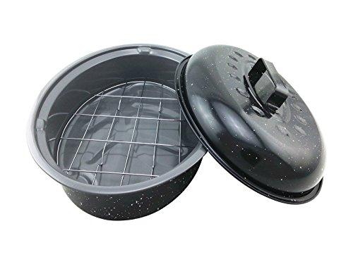 Cocotte Saveurs CUISSON02C Cacerola de cerámica para horno, color negro, cerámica, negro, 20 x 33 x 8 cm