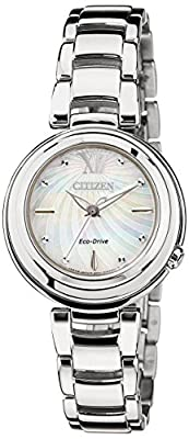 Citizen Citizen L EM0331-52D - Reloj para mujeres, correa de acero inoxidable color plateado de Citizen