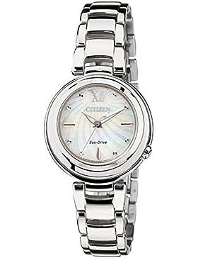 Citizen Damen-Armbanduhr XS Citizen L Analog Quarz Edelstahl EM0331-52D