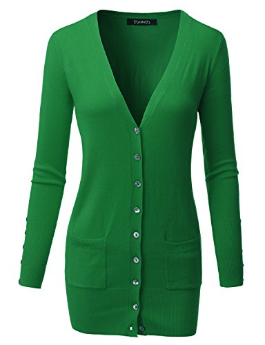 715e0bb259 Thanth 8806195194461 Womens Long Length Long Sleeve Sweater Knit Button  Cardigan- Price in India