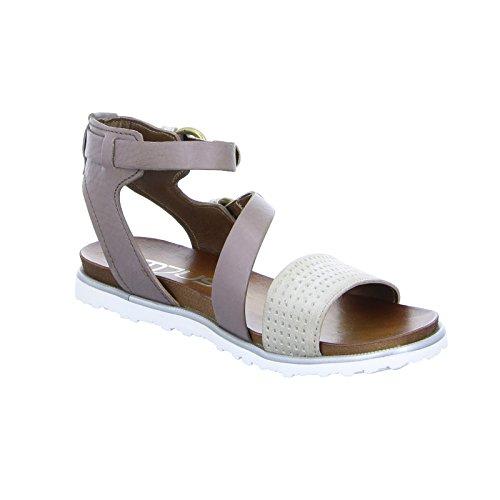MJUS Damen Sandale 255047 Leder Braun fog/malva/phard