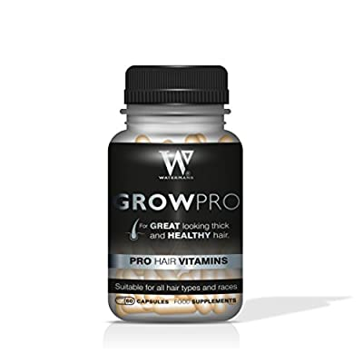 Best Hair Vitamins - GrowPro - Hair Growth Supplements - DHT Blocker for Men & Women, Helps Combat Hair Loss, Hair Regrowth? with Grow Pro by Watermans by Watermans