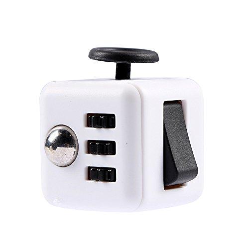 Preisvergleich Produktbild 11 farben Magie Zappeln Cube eine vinyl schreibtisch spielzeug zappeln Cube anti reizbarkeit spielzeug magie cobe Lustige weihnachtsgeschenk lager (black white)