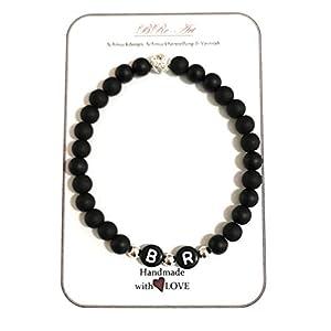 Partnerarmband, Armband mit Initialen, Armschmuck für Sie & Ihn, personalisierbar von Buchstaben & Länge, BRe-Art