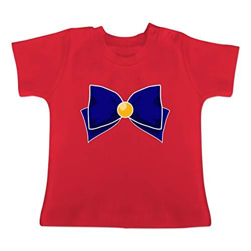 Karneval und Fasching Baby - Superheld Manga Venus Kostüm - 1-3 Monate - Rot - BZ02 - Baby T-Shirt Kurzarm (Lustiger Film Paare Kostüm Ideen)