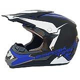 Adult Dot Zugelassenen Motorradhelm Motocross Helm ATV Scooter Helm Mit Brille Off-Road Handschuhe und Maske,A,M