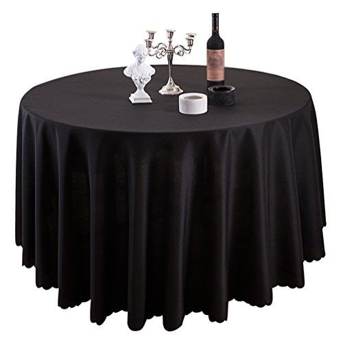 schtücher Ornamente Eckig Rund Tischdecke Schwarz 200cm (Schwarz-weiß Gestreiftes Tischtuch)