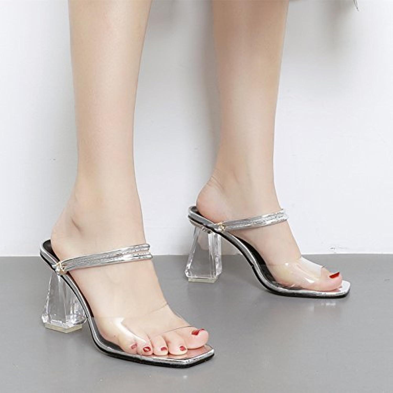 SUHANG  s s s  s Femme Transparent Épais Avec Épais Avec Les Chaussures À Talons Hauts Chaussures De Cristal...B078W8GDRJParent 7c5b19