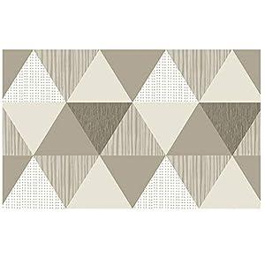 CYHOME Retro Dreieck Selbstklebende wasserdichte Anti-Öl Folie aus hochwertigem PVC Aufkleber für Küchenschränke Badezimmer Möbelfolie Dekorfolie 60x100cm (Stil 2)
