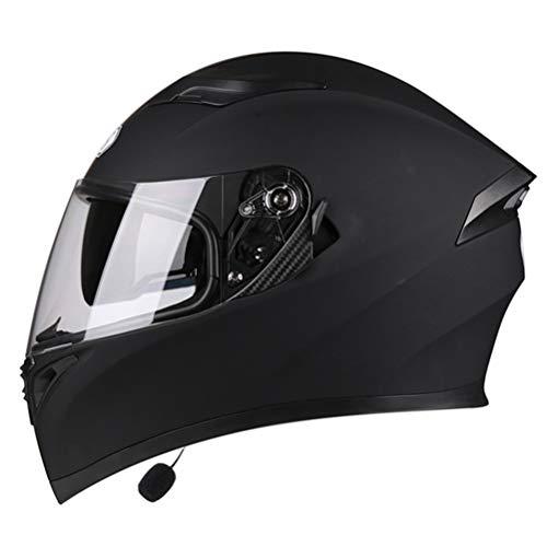 Casco moto integrale Bluetooth Casco professionale da corsa Kask DOT e GB Rainbow Visor Motocross Casco da fuoristrada con tromb