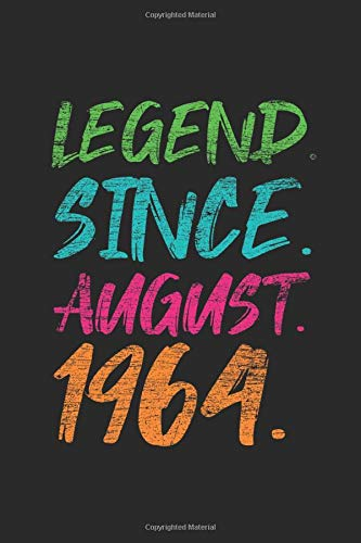 Legend Since August 1964: Dotted Bullet Journal (6 X 9 -120 Pages) for 55th Birthday Gift Idea for Women and Men (55th Birthday Ideen)