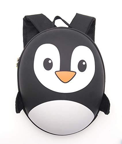 Oytra Penguin Backpack Hardshell Toddler Preschool Nursery Picnic 1-4 Years (Black)