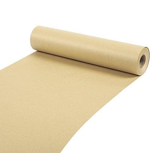 Packpapierrolle-Größe: Jumbo, Verpackungspapier, 30,5 m lang, braune Kraftpapierrolle, für Bastelarbeiten, Geschenkverpackung, Paket, Versand, 30,5 mx 3,5cm